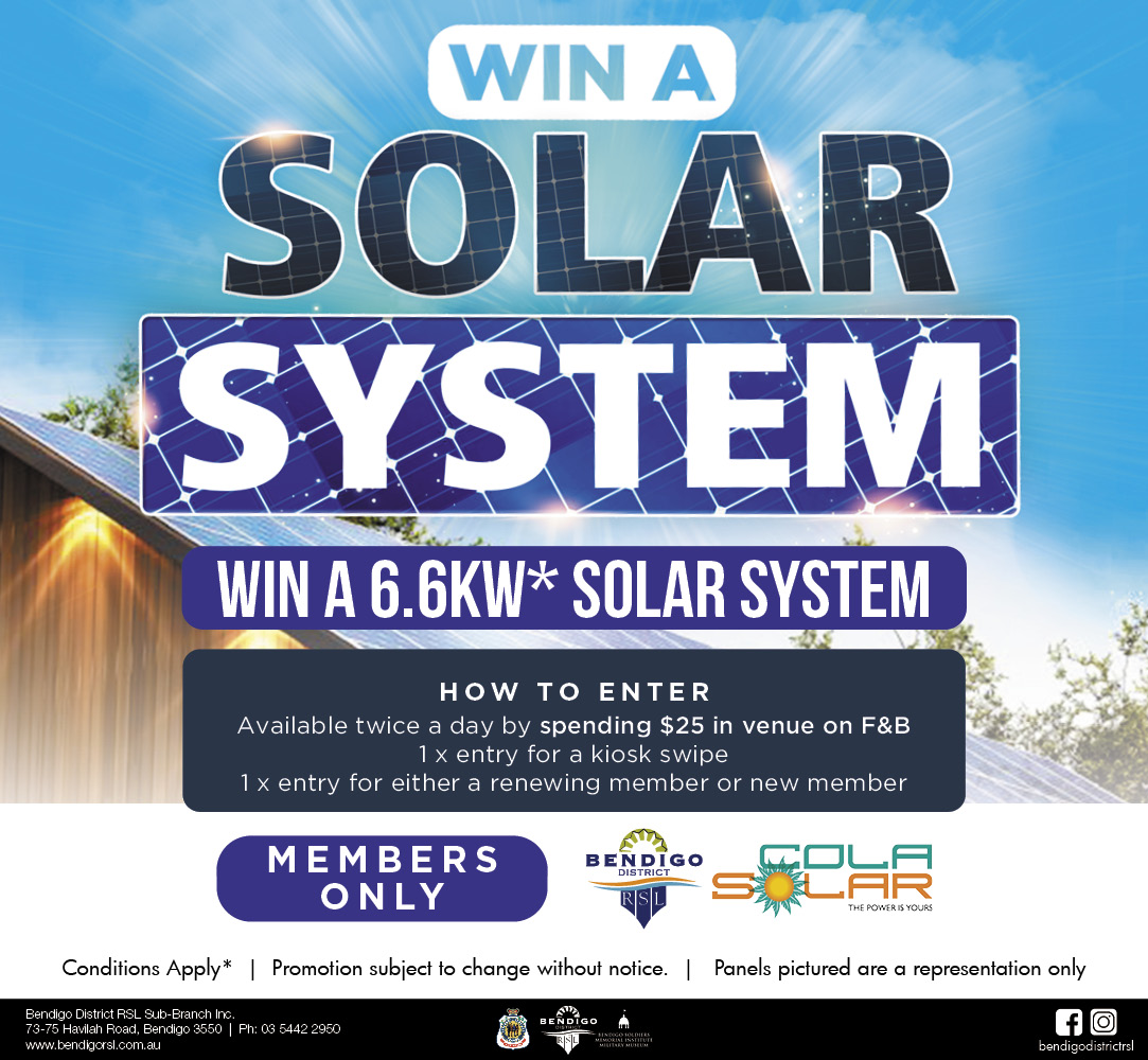 Win a 6.6kw Solar System